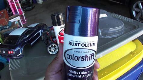 rustoleum color shift traxxas r c mustang 302 vxl colorshift paint vid