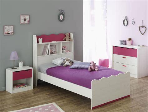 Kinderzimmer Lilan 2 Weiß Pink Kinderbett Nachttisch