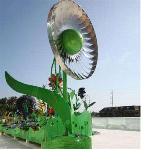 floral wind turbines power flower