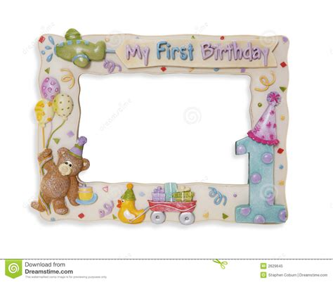 birthday frame royalty  stock photo image