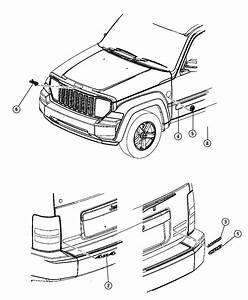 Jeep Liberty Nameplate  Arctic  Fender   Jeep Arctic Badge