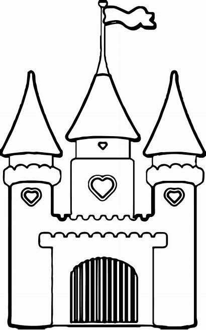 Castle Disney Drawing Cinderella Simple Walt Princess