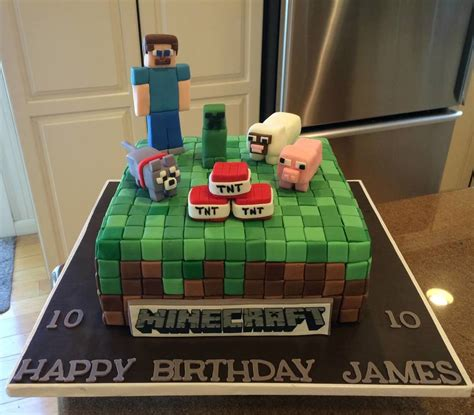 how to decorate a minecraft cake minecraft birthday cake cakecentral