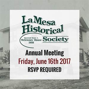 La Mesa Historical Society 2017 Annual Meeting