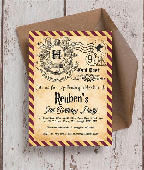 harry potter ticket invitation template bagvania