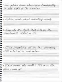 Cursive Writing Practice Sentences
