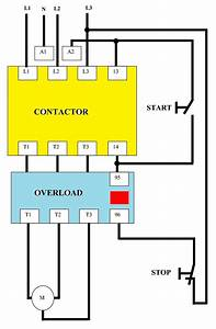 Direct On Line  Dol  Wiring Diagram For 3