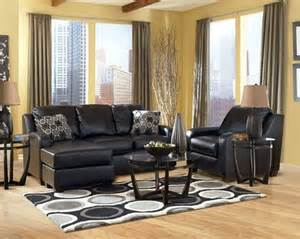 leather livingroom sets quot devin durablend black quot sectional sofa chair furniture sofa chair