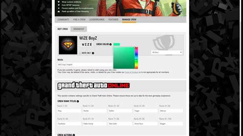 gta 5 crew colors gta 5 crew colour tutorial mint green