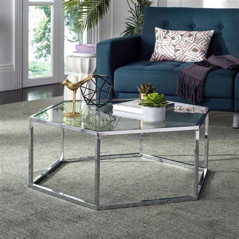 safavieh coffee table safavieh eliana glass chrome coffee table mmt6003a the