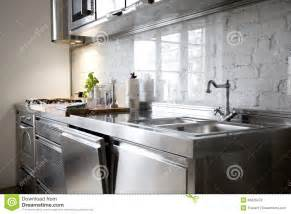 tiles and backsplash for kitchens modern kitchen with stainless steel appliances stock photos image 34826473