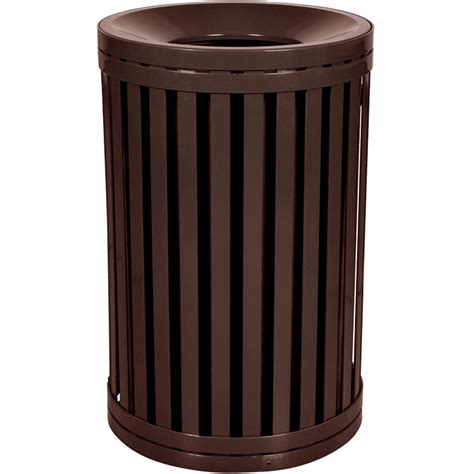 modern garbage can funnel top trash can exterior trash