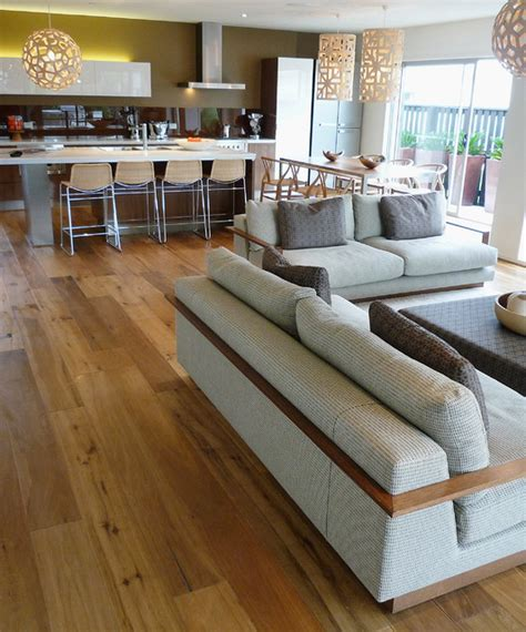wide plank wood floors  living rooms contemporary