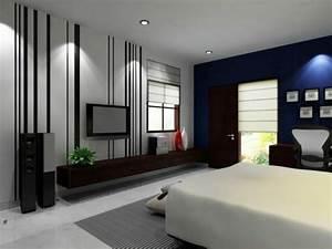 Grau Blaue Wand : 1001 ideen f r schlafzimmer grau gestalten zum entlehnen ~ Watch28wear.com Haus und Dekorationen