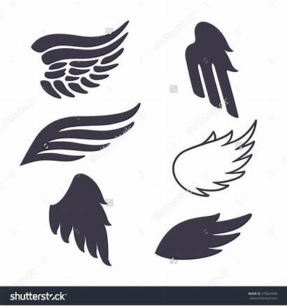 Wings Vector Angel Silhouette Clip Clipart Silhouettes