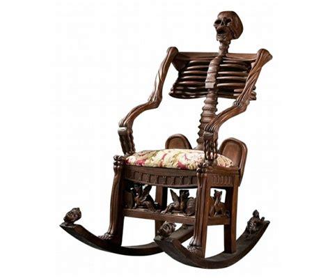 la chaise qui fait peur le fauteuil design effrayant en forme de crâne