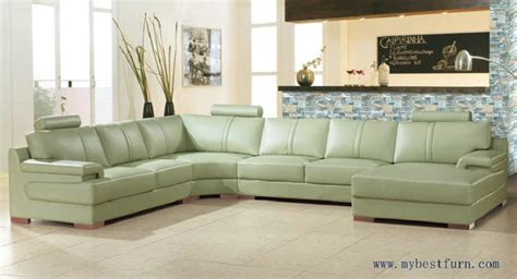 Settee Ship by Free Shipping Beige Green Sofa Large Size Leather Sofa