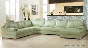 Free shipping beige green sofa large size leather sofa for Modern beige sectional sofa furniture