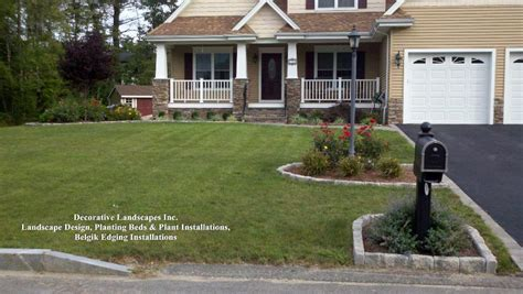 rocks for driveway low maintenance landscape ideas for front yards in ma