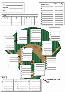 soft ball positions softball defensive lineup card With free softball lineup template