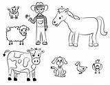Coloring Farmer Pages Farm sketch template