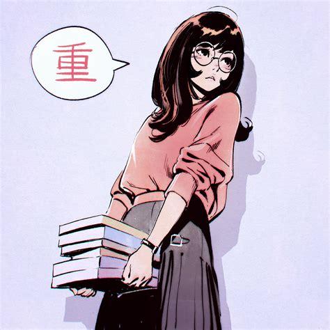 Anime Picture Original Kr0npr1nz Long Hair Single Blush