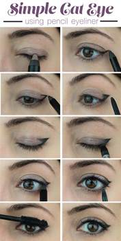 how to cat eye eyeliner how to create a simple cat eye look using pencil eyeliner