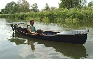 Canoe with Electric Motor