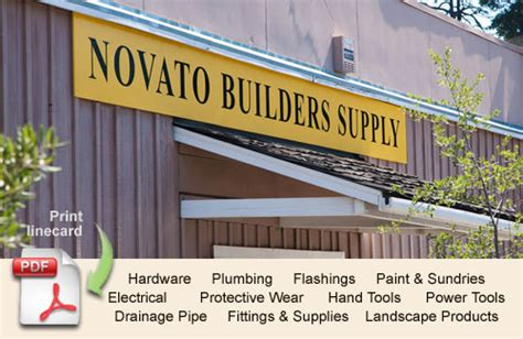 our store novato builders supply