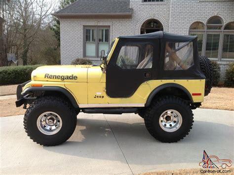 jeep cj renegade 1978 jeep cj 5 renegade levis edition unrestored original