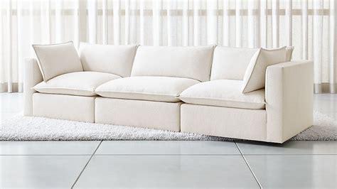 lotus modular  piece  sofa sectional reviews crate