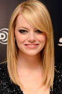 Cute Medium Length Hairstyles with Side Bangs for Thin ...
