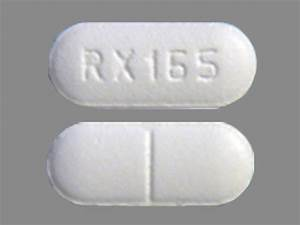 RX165 Pill Images (White / Capsule-shape)