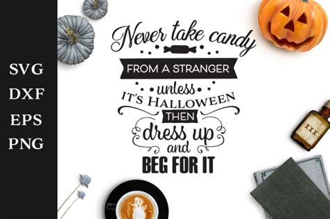 This is a digital download, no physical product will be sent. Free Never Take Candy From a Stranger Halloween SVG Cut ...