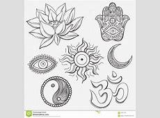 Spiritual symbols stock vector Image of mystical, mantra