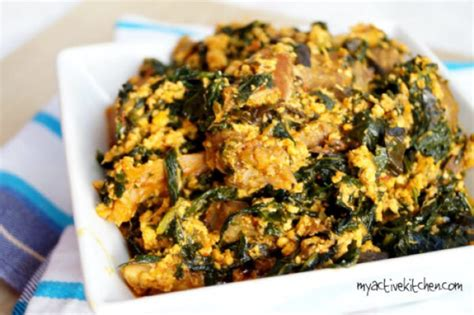 Egusi soup or melon soup is made from the dry seeds of the melon plant closely related to squash. Egusi Elefo Meta (Efo elegusi) - My Active Kitchen