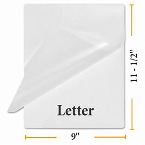 Buy letter size laminating pouches measures 9quotx11 1 2quot for Letter laminating pouches