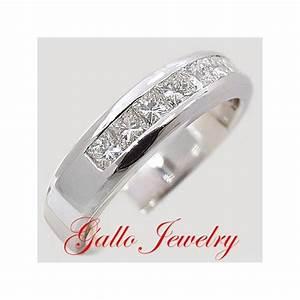 MWB00140 Channel Men39s Princess Cut Diamond Wedding Band