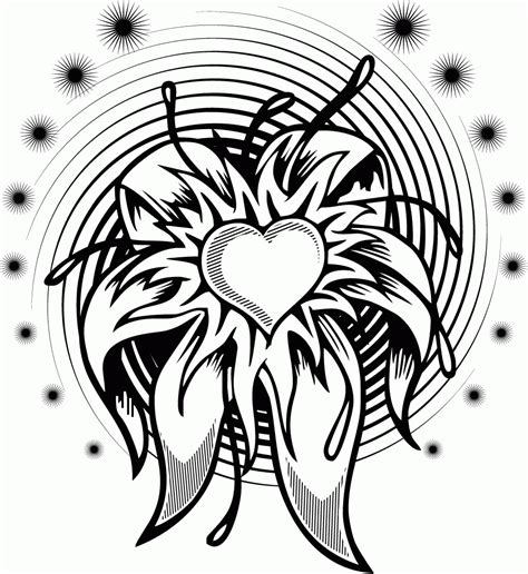 adult printable coloring pages roses heart coloring home