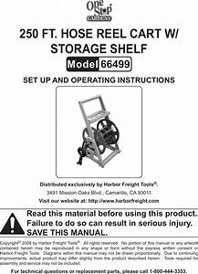 Harbor Freight 250ft Hose Reel Cart With Storage Shelf