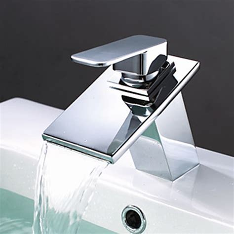 Brass Waterfall Bathroom Sink Faucet   FaucetSuperDeal.com