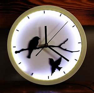 Aliexpress, Com, Buy, Round, Led, Art, Creative, Design, Wall, Clock, Cool, Modern, Round, Little, Birds