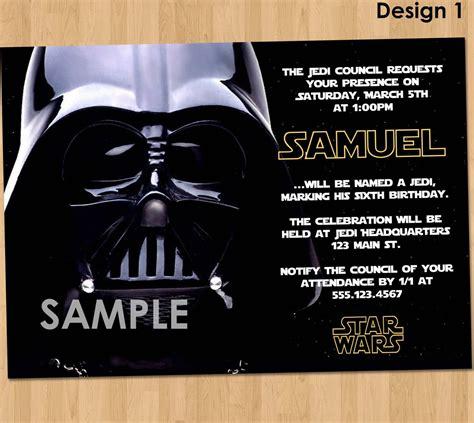 FREE Star Wars Birthday Invitations Bagvania (With
