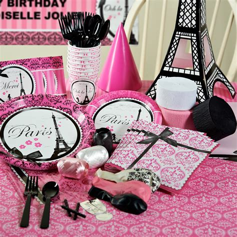 paris themed party supplies decorations home ideas
