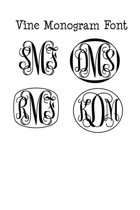 cricut monogram fonts  images vine monogram font  cricut  vine monogram font