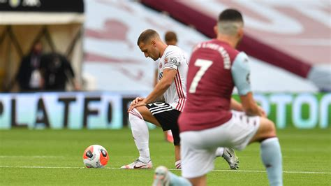 Aston Villa and Sheffield United take a knee for Black ...