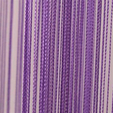 Purple string curtain