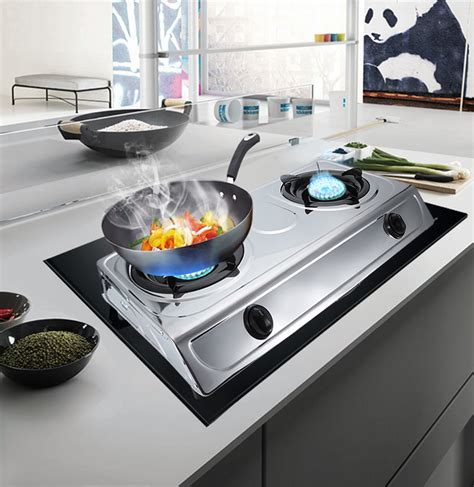 stainless dual burner portable propane gas stove outdoor