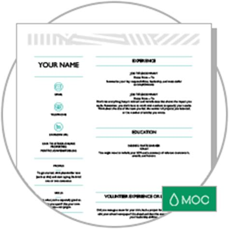 Creative Resume Designed By Moo by Land Your