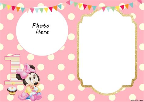 printable minnie mouse st invitation templates